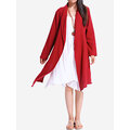 O-Newe Casual Solid Color Lapel Long Sleeve Jackets For Women