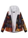 O-NEWE Printed Hooded Pocket Coats