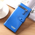 Women Stylish Long Wallet Zipper Purse Card Holders Coins Bag
