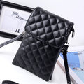 Women PU Lattice Phone Wallet Crossbody Bag Passport Wallet
