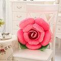 3D красочные розовые цветы бросить подушку плюшевые диван автомобиля офис обратно подушка Валентина подарок