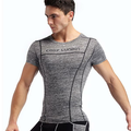 Mens Pro Compression Fitness Short Sleeve Running Sportswear Breathable T-shirt