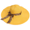 Women Girls Elegant Brim Summer Hollow Beach Sun Straw Floppy Hat Beauty Cap