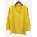 Brief Solid Color Women Sweaters