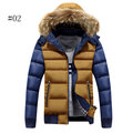 Winter Casual Outdoor Thicken Warm Detachable Hood Jacket for Men