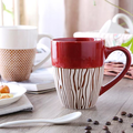 Hand Painted Ceramics Cup Features Provence Coffee Mug Personality Breakfast Milk Cup