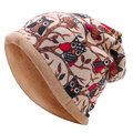Outdoor Warm Thin Plus Cashmere Owl Bonnet Cap Collar