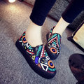 Graffiti Colorful Pattern Chic Slip On Casual Shoes For Women
