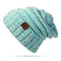 Зимняя трикотажная бини-шапка