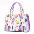 Mulheres Girl Lovely Cute Bags Cartoon Pattern Handbags Bolsas de ombro Crossbody Bags