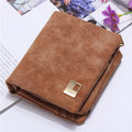 Dull Polish PU Leather Folding Wallet Card Holder Casual Short Purse