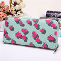 Women Lovely Candy Color Heart Long Zipper Wallet Card Holders Purse