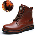 Men's Handsewn Retro Water Resistant Warm Lining Classic Work Casual Boots