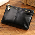 Women Genuine Leather Vintage Pure Color Wallet