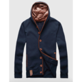 Mens Spring Fall Fashion Hoodie Thin Single Breasted Sport Casual Jacket