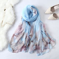 Women Sunscreen Windproof Print Beach Shawl Casual 58.5 Inch Oversize Square Scarves