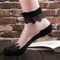 Women Ultra-Thin Transparent Print Crystal Lace Ankle Socks
