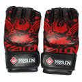 Men's PU Leather Training Grappling Boxing Fight Punch Mitts MMA Sanda Gloves