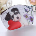 Cute 3D Dog Pattern Zipper Wallet
