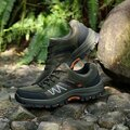 Мужская кожаная сетка Breathable Anti Skip Lace Up Outdoor Hiking Shoes
