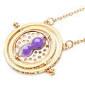 Gold Rotating Hourglass Time Turner Necklace