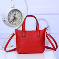 Vintage Pure Color PU Leather Handbag Shoulder Bag For Women