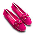 Butterflyknot Cute Metal Suede Slip On Flat Shoes