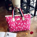 Women Canvas Print Handbag Floral Tote Bag Shopping Bag