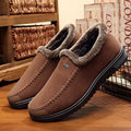 Men's Suede Warm Fur Lining Non-slip Out Door Flat Casual Shoes