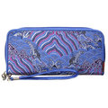 Женщины Vintage National Casual Long Zipper Wallet Elegant Cash Coins Карты Кошелек