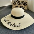 Women's Foldable Large Wide Brim Beach Cap Casual Summer Visor Sun Straw Hats