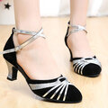 Color Match Buckle Mid Heel Mary Jane Shoes