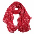 Women Music Note Print Pattern Scarf Beach Sun Protection Shawl