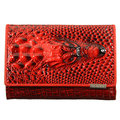 Women 3D Crocodile Grain Short Wallet