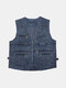 Outdoor Sport Photographic Fishing Multi Functions Multi Pockets Vest for Men