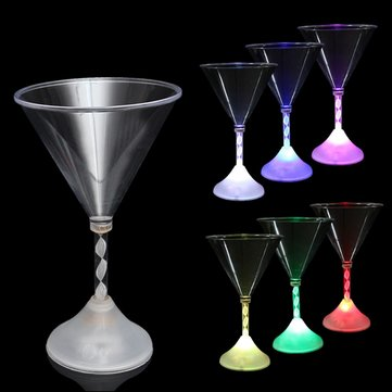 LED Flashing Wine Glass Colorful Light Champagne Cup For Party Bar Drinkware Water Cup