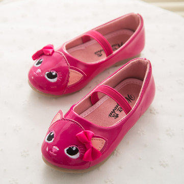 Cat Bowknot Flat Dress Shoes Comfortable Cute Shoes For Girls