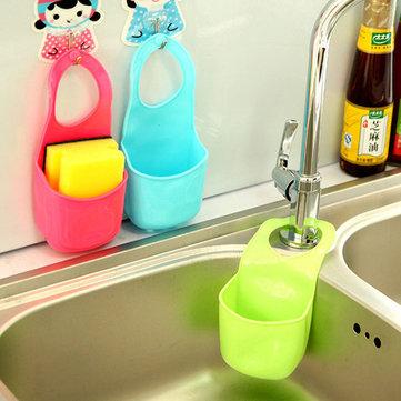 Cuisine Salle de bain Caisse croisée Moule Sac de rangement de poche Filtre Eau Crochet de crémaillère créative