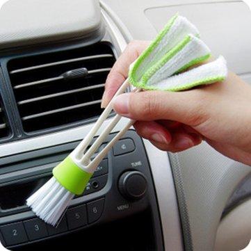 Brosse à air, brosse à air de voiture, outil de nettoyage de persienne, outil de nettoyage d'air-condition, outil de nettoyage de tableau de bord