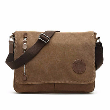 Men Canvas Casual Business Outdoor Sport Shoulder Bags Leisure Crossbody Bags