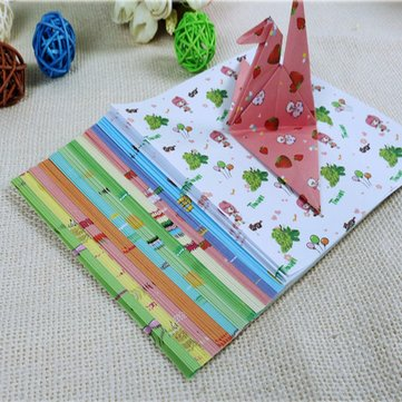 72 Sheets Origami Crane Craft Folding Paper Various Pattern Stationery Supplies Handmade Gifts