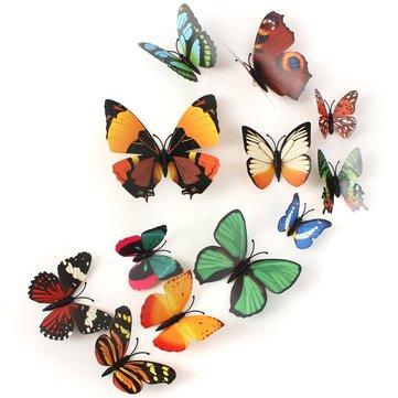 12Pcs 3D бабочка броши стены стикер Главная комната занавес свадебное платье