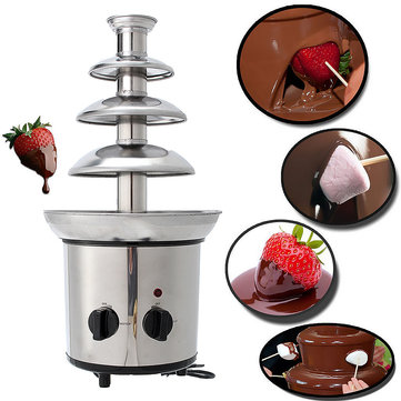 4 Tiers Mini Stainless Steel Chocolate Fondue Melting Machine - Buy it while supplies last
