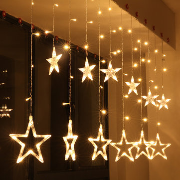 kcasa 25m 110 220v led star string lights led fairy light for festival christmas