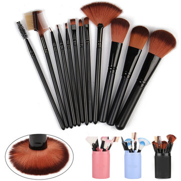 Professional 12Pcs Makeup Brushes Set Eyeshadow Blusher Cosmetic Brush With Storage