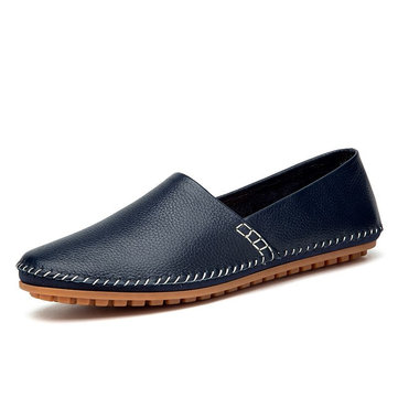 Big Size Men Genuine Leather Driving Loafers Comfortable Slip On Moccasin Shoes