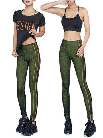 3PCS сексуальный бюстгальтер футболку Legging Stretch Спортивные костюмы