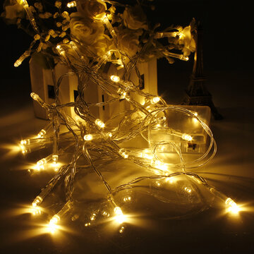 Outdoor party string lights decorative led starry string lights newchic battery powered mini 10 led string fairy light christmas party home decor aloadofball Image collections