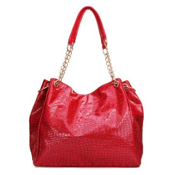 Women Leather Fashion Alligator Pattern Handbag