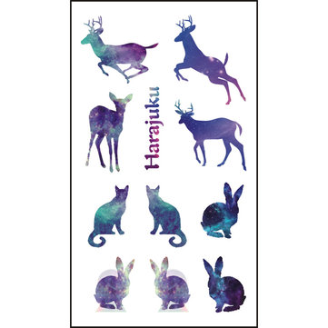 Semipermanent Deer Tattoo Stickers Water Proof Environmental Temporary Tattoos